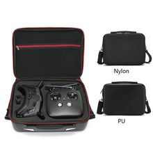 Nylon/PU Storage Bag Carry Case for DJI FPV Experience/Fly More Combo VR Glasses 28TE