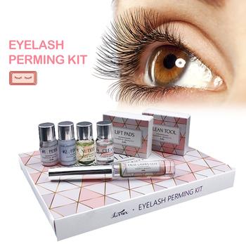 Funmix Professional Mini Eyelash Perming Kit Eyelash Lift Cilia Tools Eyelash Glue Perming Kits Makeup Tools Easy to Carry tanie i dobre opinie ELECOOL
