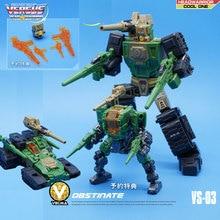 MFT Transformation Hardhead VS 03 VS03 Headmasters WERRIOR Series Mini Pocket Action FIgure Robot Toys