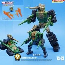 MFT dönüşüm Hardhead VS 03 VS03 Headmasters WERRIOR serisi Mini cep aksiyon figürü robot oyuncaklar