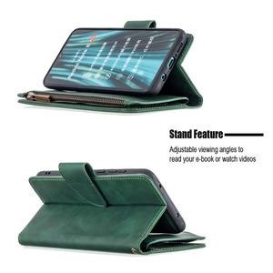 Image 5 - Zipper Flip Case For Xiaomi Redmi Note 7 8 Pro 9 Pro 8T 7A K20 Mi Note 10 CC9 Detachable Leather Magnet Wallet Stand Cover Coque