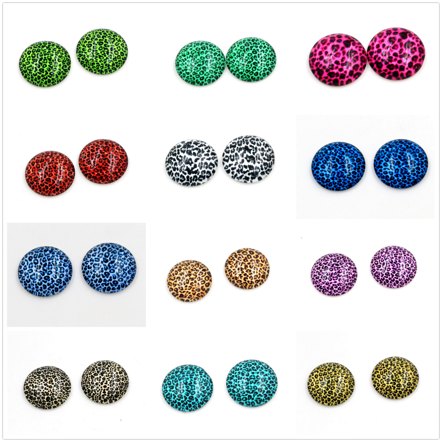 Hot Sale New Fashion 5pcs/Lot 25mm Handmade Photo Glass Cabochons Pattern Domed Jewelry Accessories Supplies