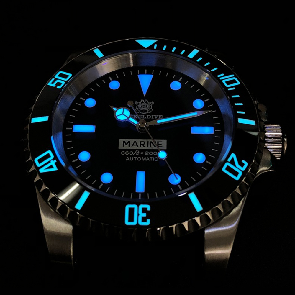 200M Diving Mechanical Watch Men Sport NH35 Automatic Watch Mens Diver Stainless Steel Sapphire Crystal Wristwatch Luxury Brand