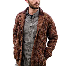 Men's Sweater Cardigans Designer Pure Color Woolen Single-Breasted Jacket 2020 Male Brand Casual Outwear Long Sleeves Tops Coat(China)
