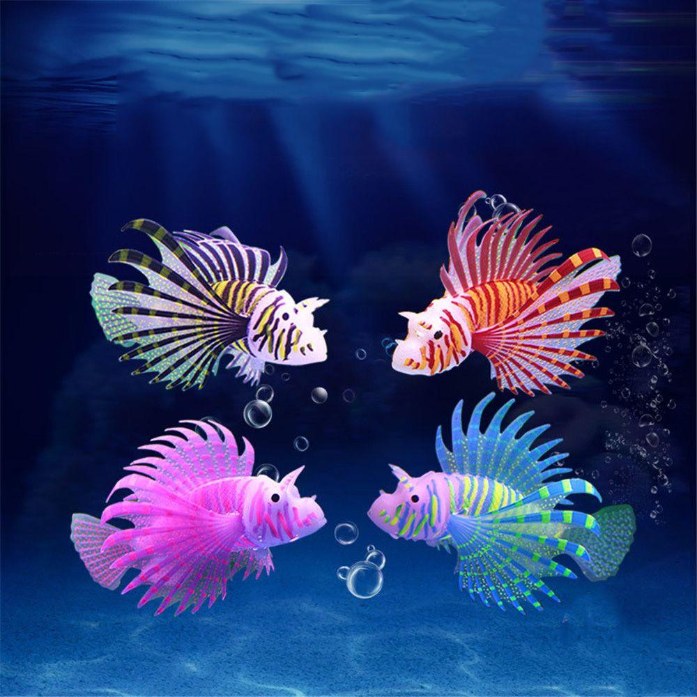 Аквариумная искусственная светящаяся аквариумная силиконовая Медуза, светящаяся в темноте, подводное украшение