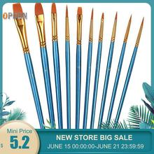 10 pcs Round Pointed Pen Drawing Art Pen for Sketched Lines Paint Oil Painting For Tainted Frame DIY Painting By Numbers