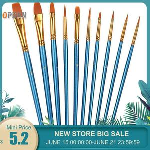 Image 1 - 10 pcs Round Pointed Pen Drawing Art Pen for Sketched Lines Paint Oil Painting For Tainted Frame DIY Painting By Numbers