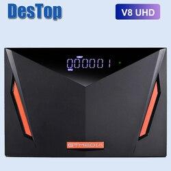 Gtmedia V8 UHD DVB S2 receptor de satélite incorporado wifi soporte T2-MI H.265 DDVB-S/S2/S2X + T/T2/Cable/ATSC-C/ISDBT mejor V8 POR2