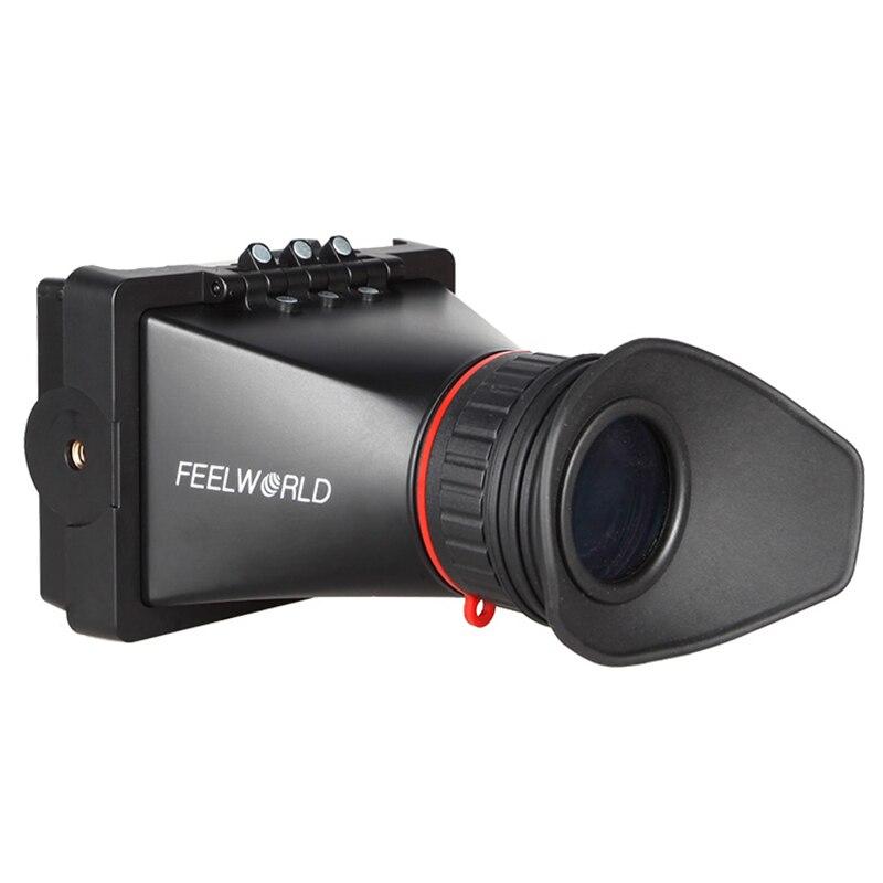 Feelworld e350 3.5 인치 전자 뷰 파인더 (hdmi 입력 및 출력 포함) evf 카메라 외부 lcd viwefinders-에서모니터부터 가전제품 의