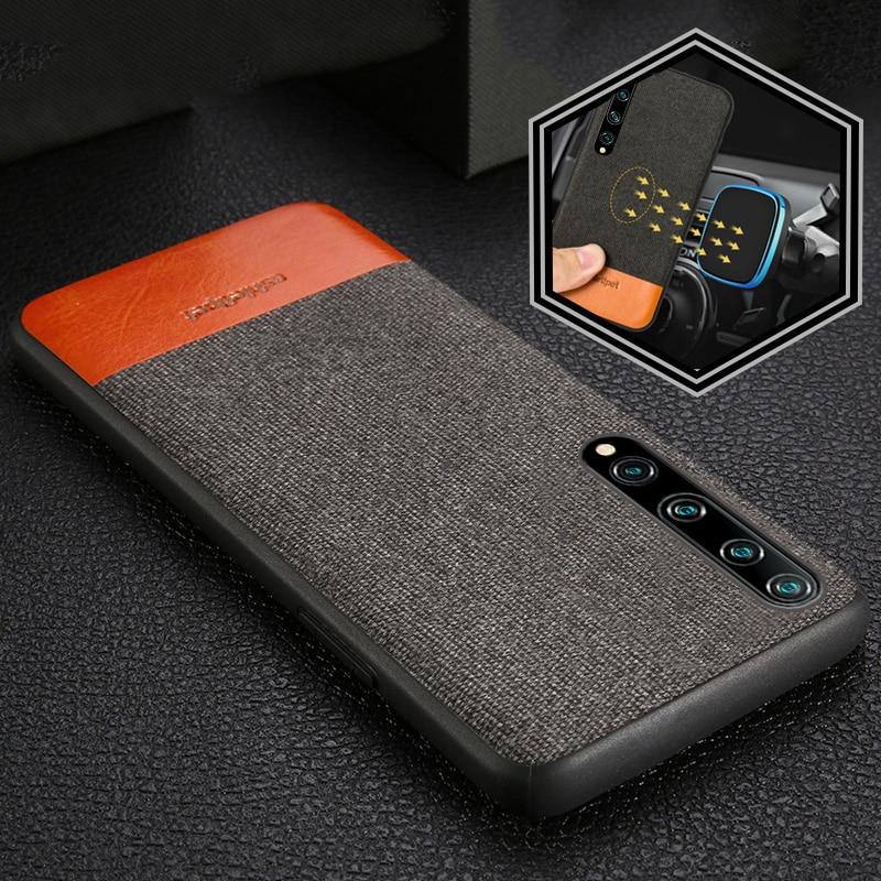 Canvas + Leather Case for Mi 11 10 9T 10T Lite 9 Poco X3 Pro NFC M3 F3 Cover For Xiaomi Redmi Note 8 Pro 8T Note 10 9 pro 9s 7