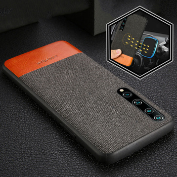 Canvas + Leather Magnetic Case for Mi 10 Pro 9 9T 8 A3 Poco X3 NFC Note 10 Cover For Xiaomi Redmi Note 8 Pro 8T Note 9 pro 9s 7