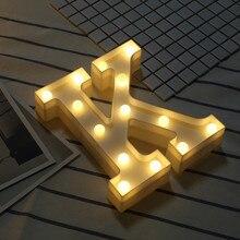Буквы Алфавита светильник s Мягкий теплый свет светодиодный светильник вверх теплый белый Пластик подсветки букв настенных стоящий, подвесной A-M&# R5