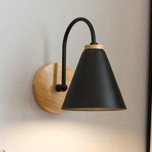 Skandynawska minimalistyczna sztuka żelaza czarna biała lampa dekoracja wnętrza domowego nowoczesny salon sypialnia kuchnia aleja oświetlenie naścienne LED