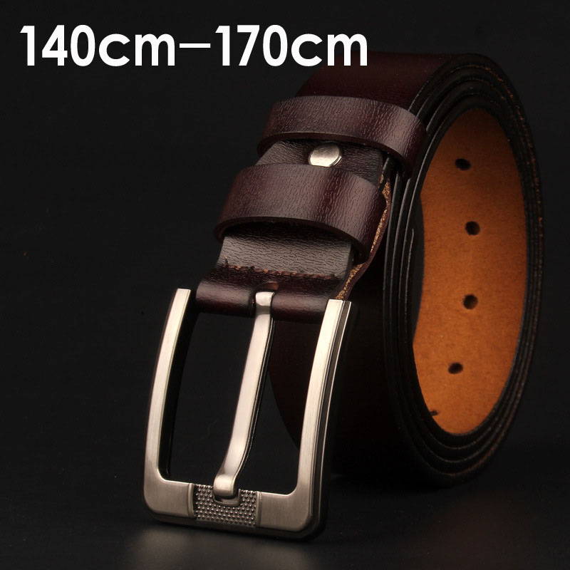 Man Extra Large Size Pin Buckle Belt 150 170cm Genuine Leather Belt For Men Punk Antique Long Pants Male Belt Luxury 2020