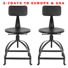 Ajustable Height Swivel Kitchen Dining Chair Industrial Style Metal Bar Stool W/ Backrest Coffee Chair Cafe Bar Home Furniture(China)