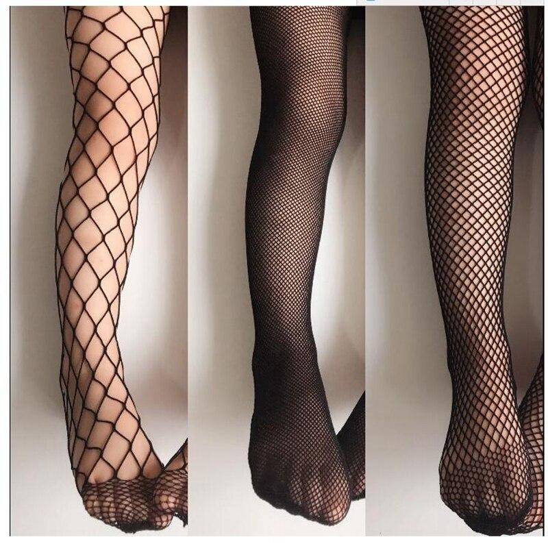Baby Girls Fashion Mesh Stockings Hole Jeans Bottoming Net Stockings Kids Fishnet Stockings Black Hollow Pantyhose Tights 6-10Y