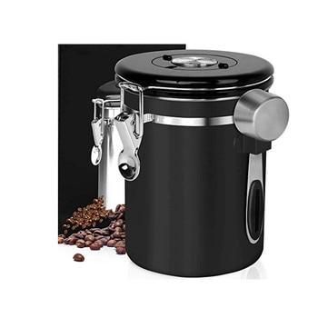 Stainless Steel Sealed Tank Storage Tank Moisture-proof Coffee Bean Milk Powder Jar Tea Pot Kitchen Grains Storage Box 1