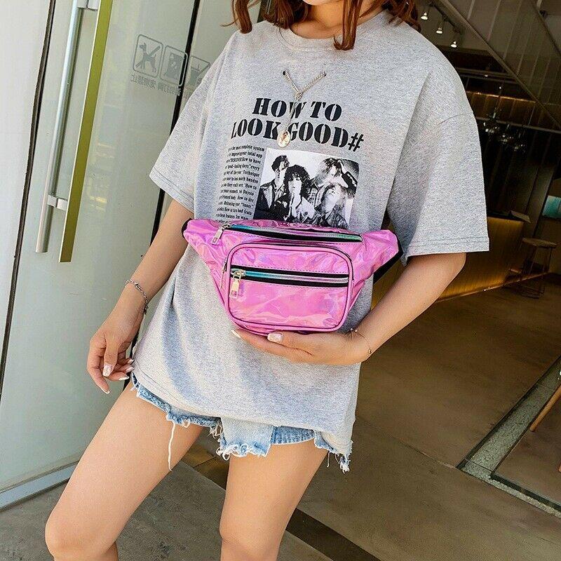 Women Waist Bag Fanny Pack Pouch Sport Belt Hip Chest Crossbody Shoulder Purse Clear Bum Waist Fanny Pack Women Chest Zipper Bag