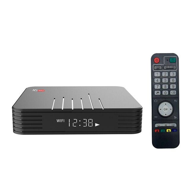 Magicsee N5 Max Amlogic S905X3 Android 9.0 TV BOX 4G 32G/64G Rom 2.4+5G Dual Wifi Bluetooth4.0 Smart Box 4K LAN 100M Set Top Box