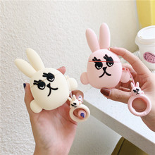 For AirPods 1 Case 3D Cute Cartoon Rabbit Eeyore Donkey Earphone Apple Airpods 2 Silicone Protection Cover Key Ring