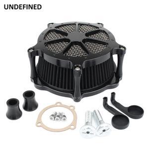 Image 5 - Preto cnc filtro de ar da motocicleta venturi corte sistema de admissão de ar mais limpo para harley sportster ferro 883 xl1200 xl883 48 72 1991 2019