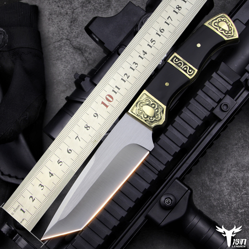 LENGREN high quality 8CR13MOV tactical knife outdoor hunting knife camping woodworking garden multi-purpose sharp hunting knife