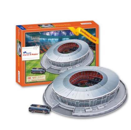Sport Estadio Donbass Arena Stadium Football 3D Paper DIY Jigsaw 3413 Puzzle Model Educational Toy Kits Children Boy Gift Toy