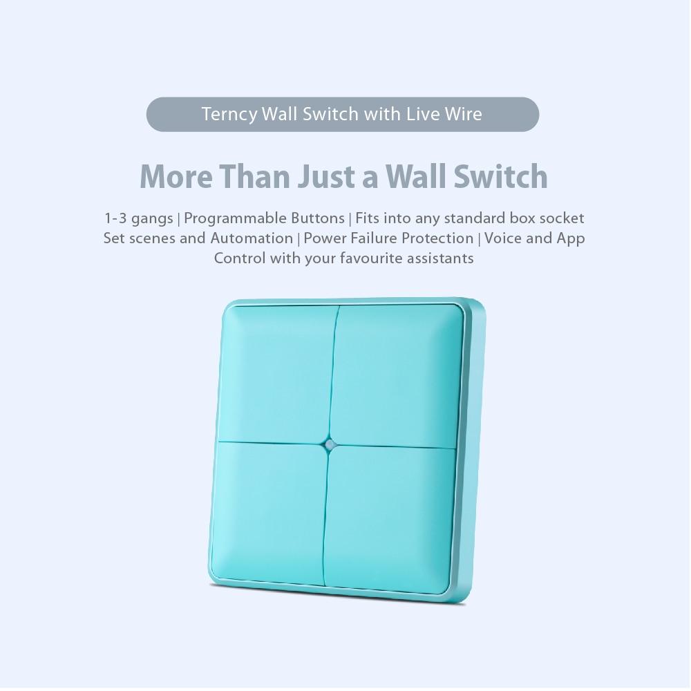 Interruptor de parede terncy com fio vivo-1