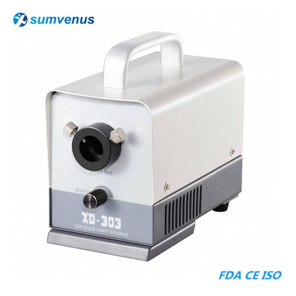 MINI Portable LED 20W Industry Microscope Microscopy Cold Light Source Optical Fiber Jewelry Identification