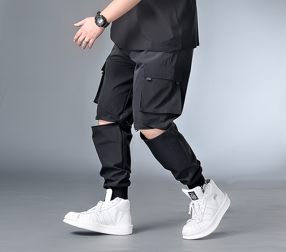 7XL 6XL XXXXL Men New Harem Pants Mens 2020 Autumn Joggers Hip Hop Pants Male Streetwear Cotton Casual Trousers  Removable Pant