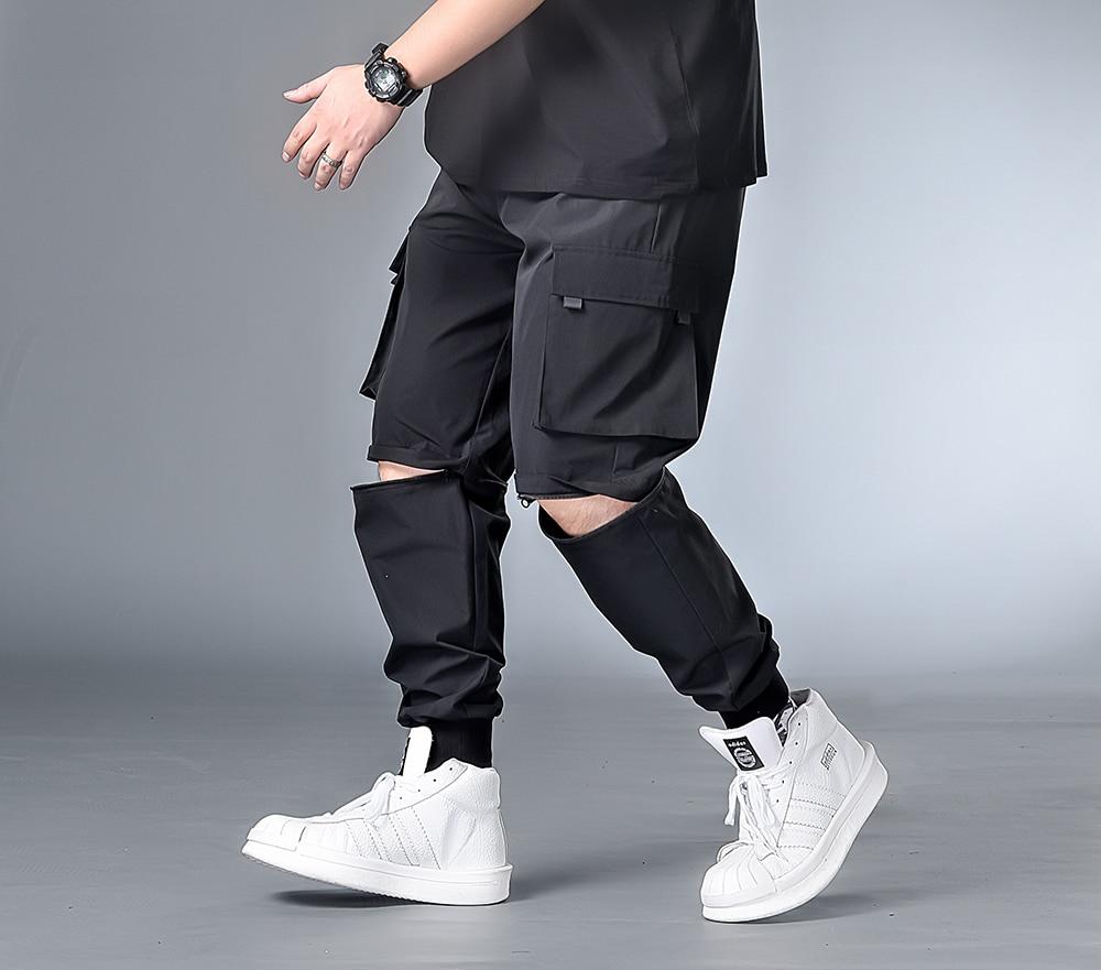 7XL 6XL XXXXL Men New Harem Pants Mens 2020 Autumn Joggers Hip Hop Pants Male Streetwear Cotton Casual Trousers  Removable Pant