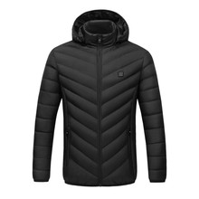 Winter Heating clothes Intelligent Thermostat Men Women USB Cotton Clothes Solid Hooded Warm Coat