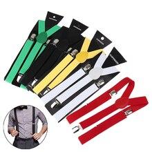 Adjustable Elasticated Adult Suspender Straps Unisex Women Men Y Shape Elastic Clip-on Suspenders Pants Braces
