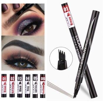 Microblading Eyebrow Pen Waterproof Fork Tip Eyebrow Tattoo Pencil Long Lasting Professional Fine Sketch Liquid Eye Brow Pencil