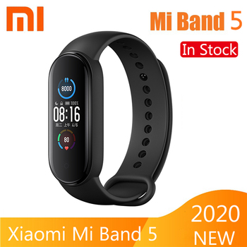 Xiaomi Mi Band 5 Smart Bracelet 4 Color AMOLED Screen Heart Rate Fitness Bluetooth Sports Waterproof Wristband Mi Band 4 5 Watch