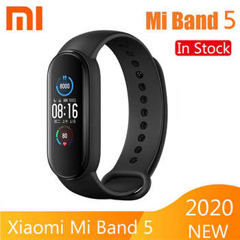Pulsera inteligente Xiaomi Mi Band 5, 4 colores, Pantalla AMOLED, ritmo cardíaco, Fitness, Bluetooth, deportes, pulsera impermeable, reloj Mi Band 4 5