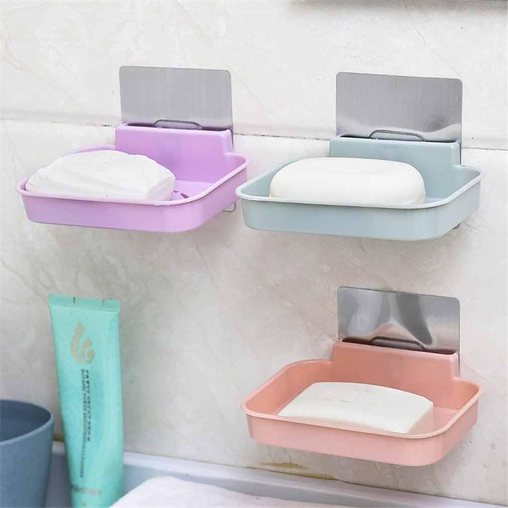 À la mode moderne maison salle de bains savon vaisselle support forte ventouse Type savon panier plateau organisateur