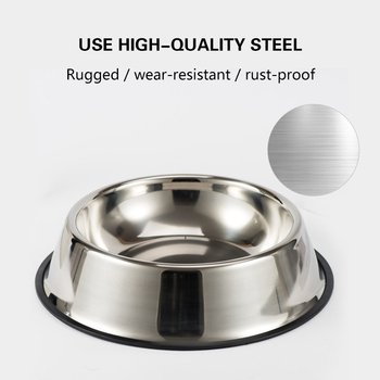 Stainless Steel Pet Dog Bowl Non-slip Durable Anti-fall Dogs Feeding  3