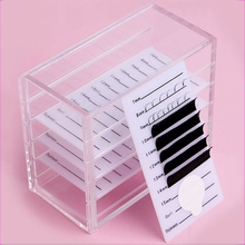 5 layers clear eyelash storage box Makeup Display Container Eyelashes Glue Palle