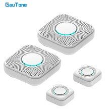 GauTone Беспроводной дверной звонок дистанционного диапазон 100M Сид Умный дом дверной звонок перезвон 433 МГц умный дверной звонок
