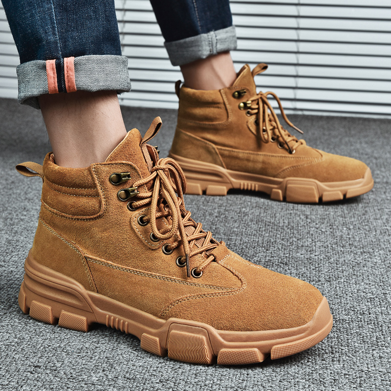 Men Winter Sneakers Botas De Hombre Men High Top Sneakers Warm Comfortable Shoes Men Ankle Boots High Quality Outdoor Work Boots