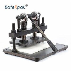 Image 4 - 26 × 16 センチメートルダブルホイール手の革切断機、baterpak写真用紙、pvc/evaシート型カッター、革ダイ切断機