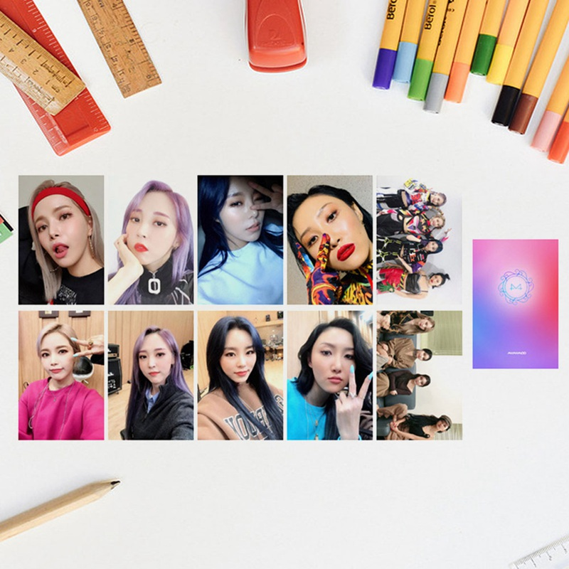 10Pcs/Set MAMAMOO Album Reality In BLACK Self Made Paper Lomo Card Photo Card Poster Photocard Fans Gift Collection