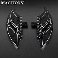 Motorcycle Black Floorboards Foot Pegs Footrest Pedals For Harley Sportster 883 1200 XL Touoring Electra Glide Road King Dyna