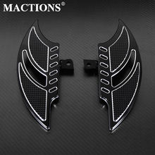 цена на Motorcycle Black Floorboards Foot Pegs Footrest Pedals For Harley Sportster 883 1200 XL Touoring Electra Glide Road King Dyna