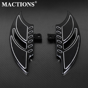 Motorcycle Black Floorboards Foot Pegs Footrest Pedals For Harley Sportster 883 1200 XL Touoring Electra Glide Road King Dyna(China)
