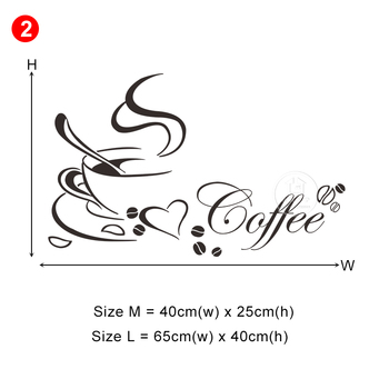28 styles Coffee Wall Stickers for Kitchen Decorative Stickers Vinyl Wall Decals DIY Stickers Home Decor Dining Room Shop Bar 26