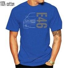 Camiseta e46 e 46 clássico deriva série 3 carro 2020 estilo verão marca casual o-pescoço masculino topos & t impressão em camisetas