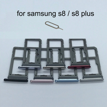For Samsung Galaxy S8 G950 G950F S8 Plus G955 G955F Original Phone Housing New SIM Card Adapter And Micro SD Card Tray Holder 1