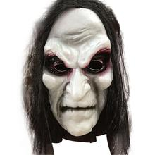 Halloween Zombie Mask Props Grudge Ghost Hedging Realistic Masquerade Long Hair Scary
